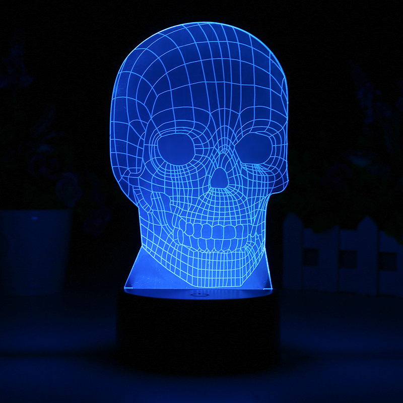 3D Skull LED Light