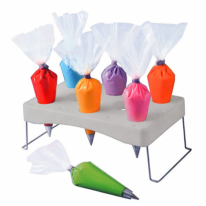 ABS Stainless Steel Detachable Cake Decorating Pastry Bag Icing Bag Holder Stand Shelf