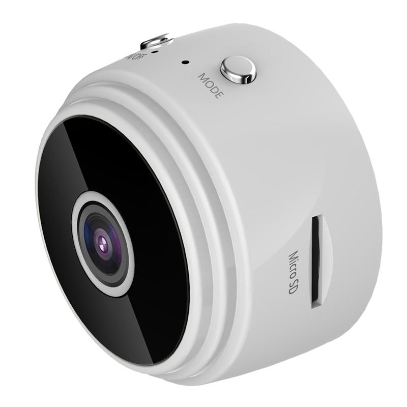 A9 Night  Vision  Camera Mini Wireless 360�� Rotation Motion Night  Vision  Camcorder white