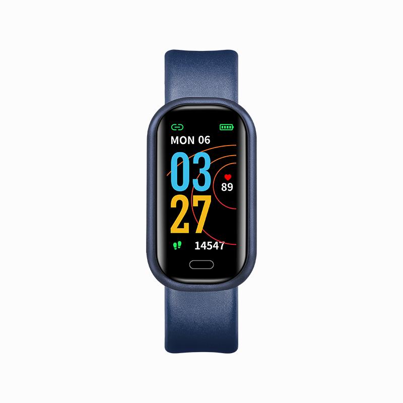 Smart Watch Bluetooth Call Health Monitoring Heart Rate Blood Pressure Blood Oxygen Exercise Smart Bracelet Dark blue