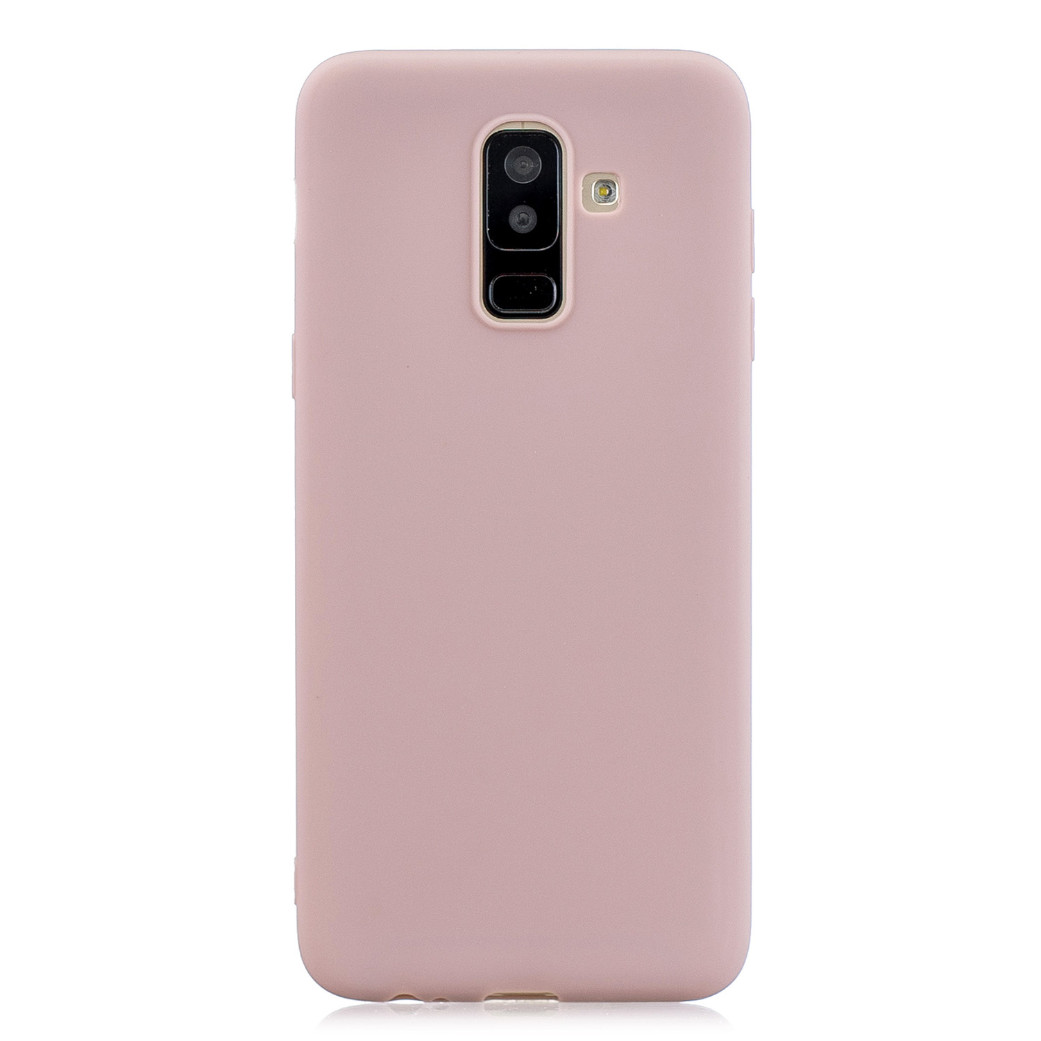 For Samsung A6 PLUS Lovely Candy Color Matte TPU Anti-scratch Non-slip Protective Cover Back Case 11