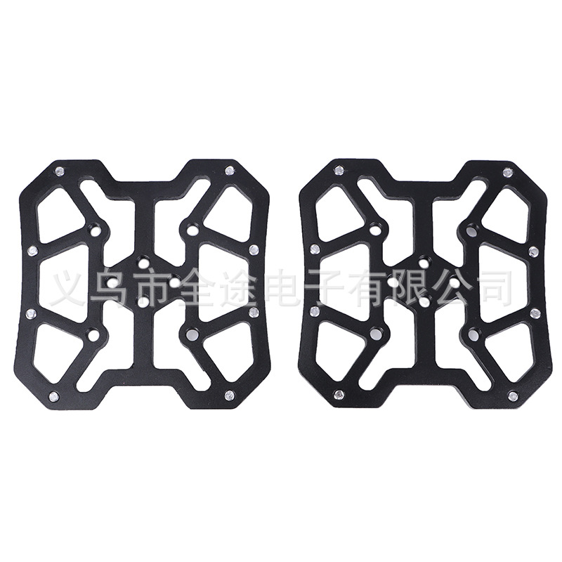 Pair of Aluminum Alloy MTB Mountain Bike Bicycle Pedal Platform Adapters for SPD for KEO Bicycle Parts Lightweight black_One size