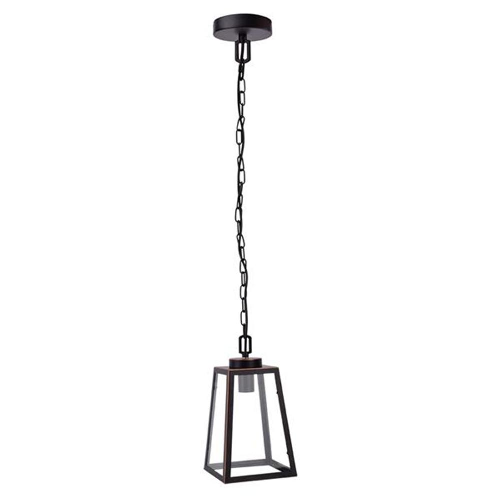 [US Direct] 110-240v Chandelier E26 Lantern Pendant Light For Dining Room Kitchen Hallway Entryway black