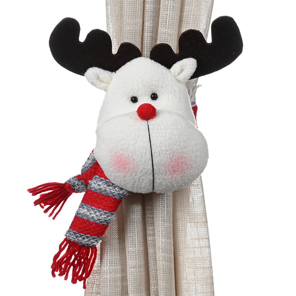 New Cartoon Creative Christmas Xmas Rubber Band Curtain Buckle Christmas Window Decoration Elk