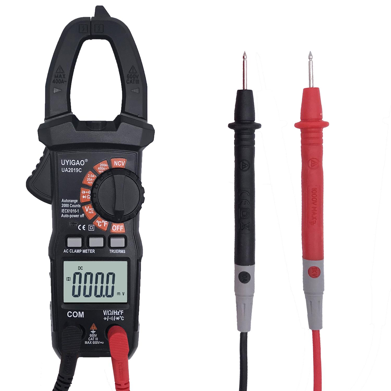 Portable Ua2019c Digital Clamp Type Multimeter High Precision Clamp Type Ac Meter Small Clamp Type Multifunction Meter JX00040