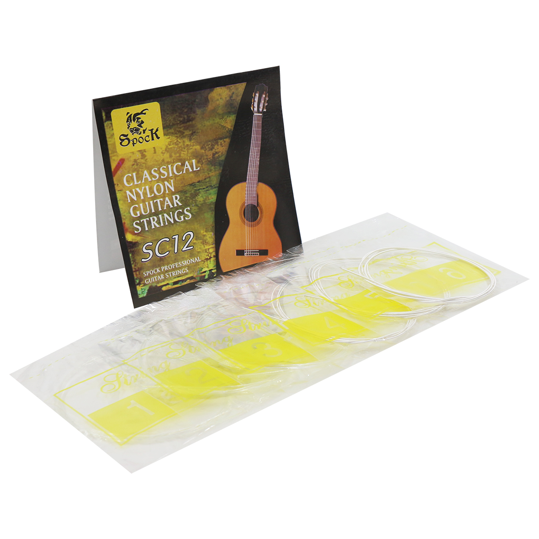 6 pcs Guitar Strings Set Nylon Silver Plating Super Light for Classic Acoustic Guitar  SC12