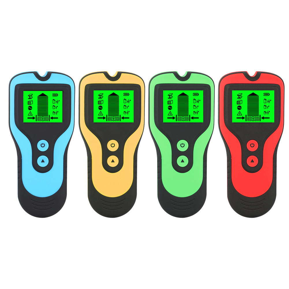 3 In 1 Stud Finder Multifunction Wall Stud Sensor Detector With LCD Display And Sound Warning Yellow