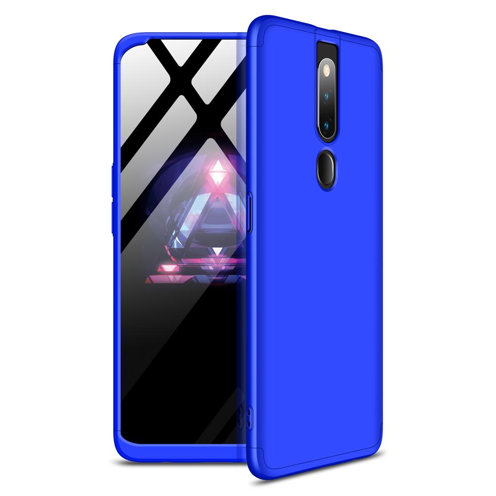 For OPPO F11 pro Ultra Slim PC Back Cover Non-slip Shockproof 360 Degree Full Protective Case blue
