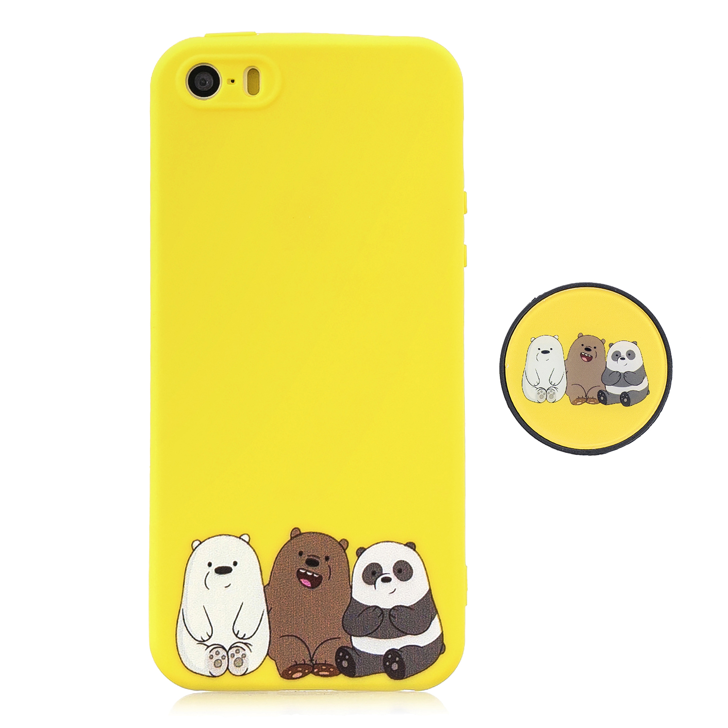 For iPhone 5 5S SE Phone Cases TPU Full Cover Cute Cartoon Painted Case Girls Mobile Phone Cover 7