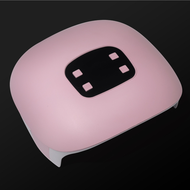 60w Nail  Lamp Dual Light Source Lamp Bead Nail Phototherapy Machine Usb Type Led/uv Nail Lamp Pink