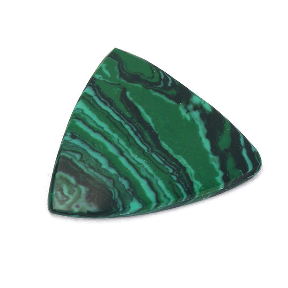 Triangle Malachite Stone Picks For Acoustic/Classical/Electric Guitar Bass Emerald (big triangle)