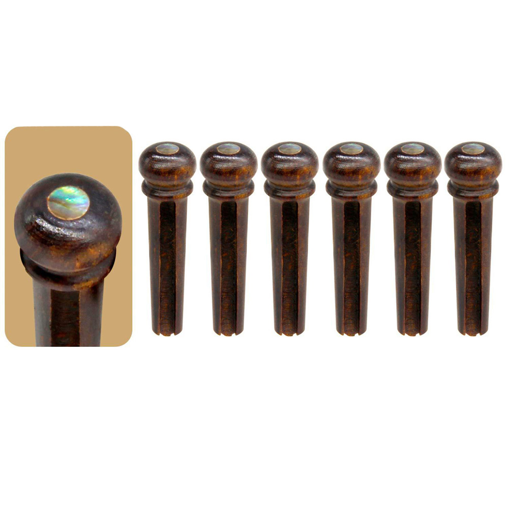 Abalone Shell Guitar Bridge Pins for Acoustic Guitar Parts Accessories Wood color