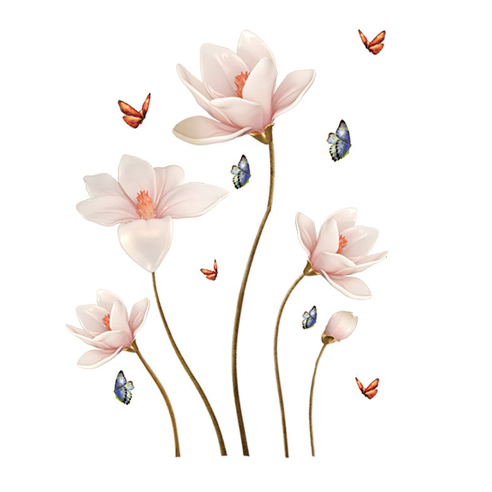 Removable 3D Flower Wall Sticker Living Room Bedroom Home Decor As shown