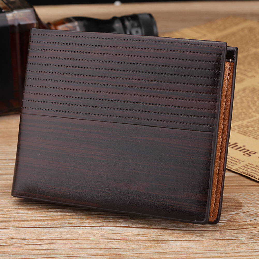 Men Leisure Wallet - KL017 Dots dark brown