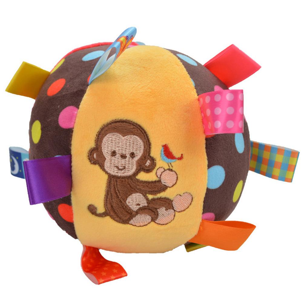 Baby Ball Plush Ball Toy Super soft comfort ball Easy to Grasp Bumps Help Develop Motor Skills  monkey