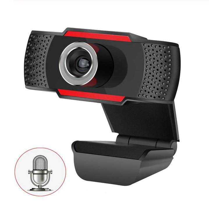 Web Camera HD Built-In Sound-absorbing Microphone Manual Focusing Computer Camera Webcams  black