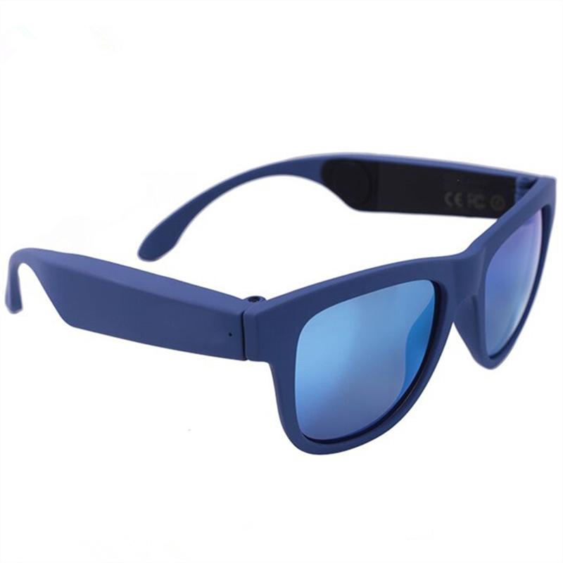 G1 Glasses Bone Conduction Headphone Ear Carer Touch Panel Filter UV Ray  Sunglasses Bluetooth 4.0 Headset  blue