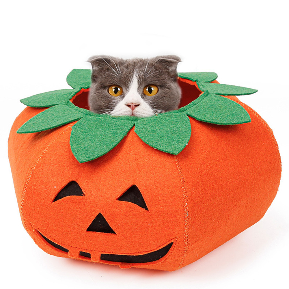 Pet Collars Halloween Pumpkin for Cats Small Dogs Cute Cosplay Pet Accessories Neckband S