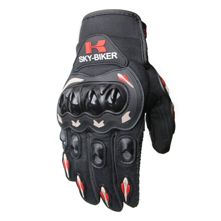 Men Motorcycle Riding Protective  Gloves For  Riders  Bikers Orange_L