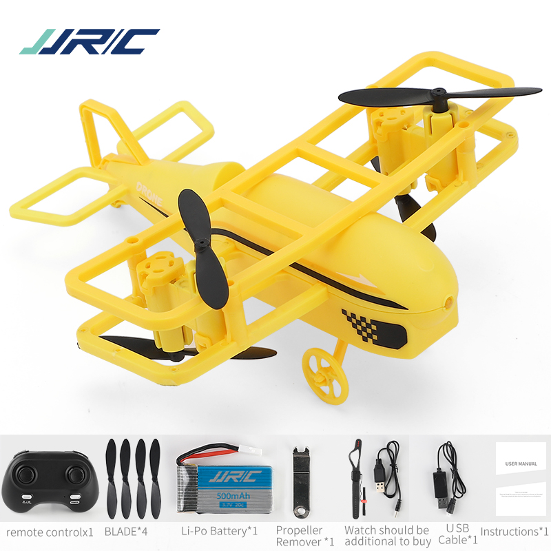 JJRC H95 2.4G Mode 2 360 Degree Roll Headless Mode Keep Flying Height Remote control Mini FPV Racing Drone RC Quadcopter yellow