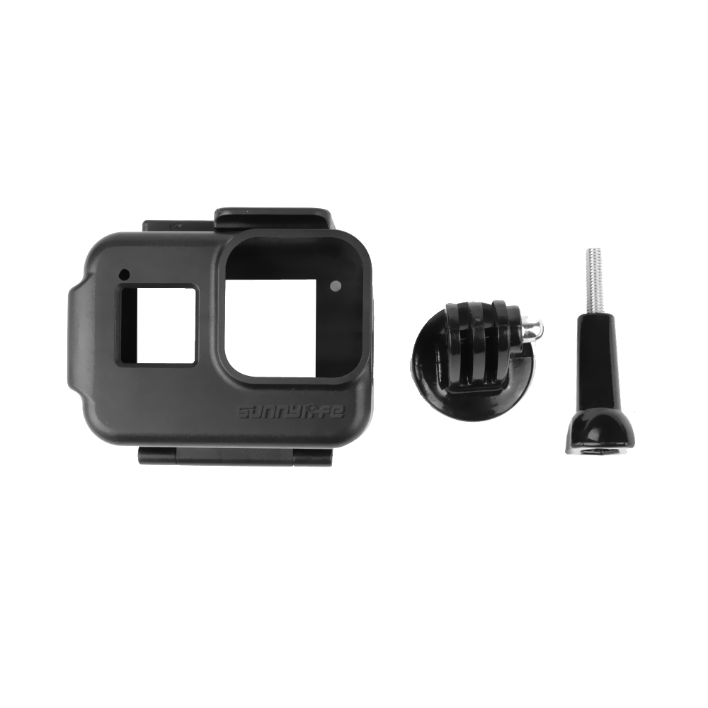 Shock-proof Plastic Frame Protective Case Shell Protector for GoPro Hero8 black