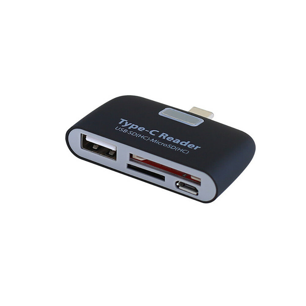 USB 3.1 Type-C OTG Card Reader HUB SD / TF Memory Card Expansion Type-C to USB Connector white