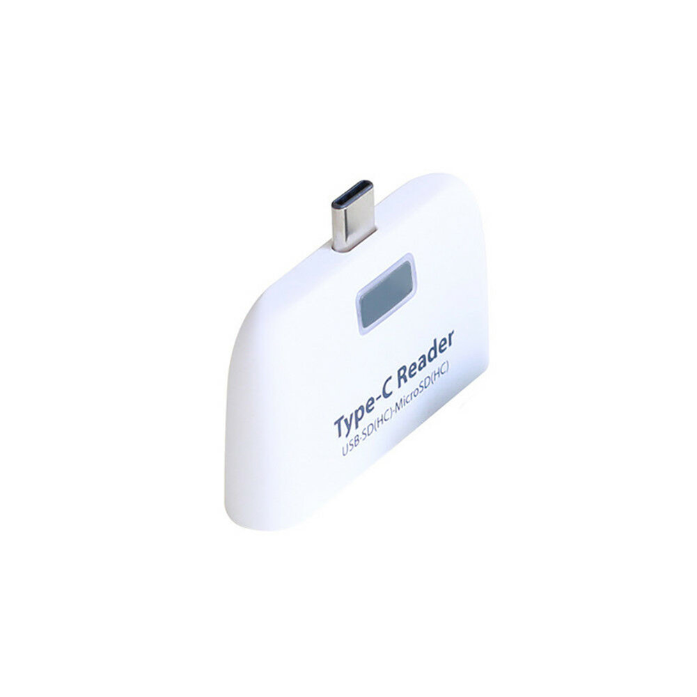 USB 3.1 Type-C OTG Card Reader HUB SD / TF Memory Card Expansion Type-C to USB Connector black