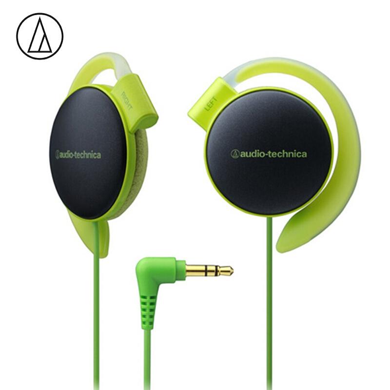 Original Audio-Technica ATH-EQ500 Wired Earphone Music Headset Ear Hook Sport Headphone Surround Bass For Xiaomi Huawei Oppo Etc Green