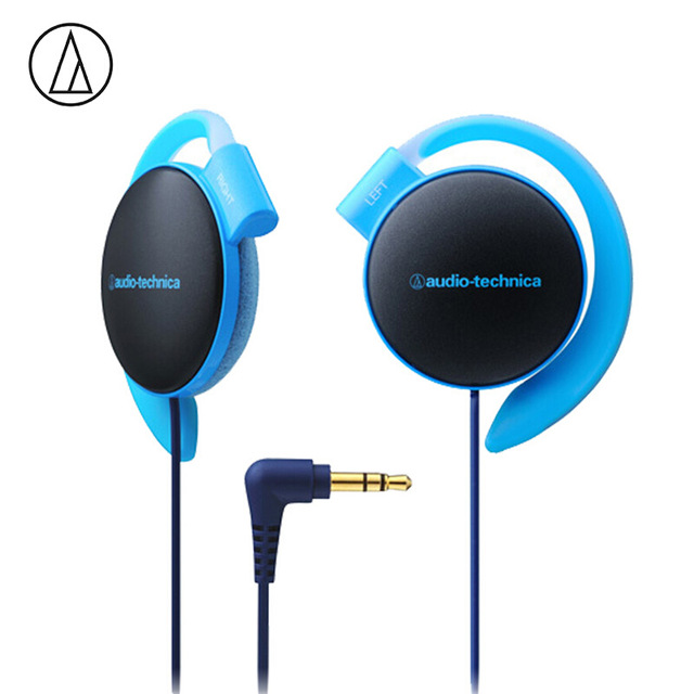 Original Audio-Technica ATH-EQ500 Wired Earphone Music Headset Ear Hook Sport Headphone Surround Bass For Xiaomi Huawei Oppo Etc Blue