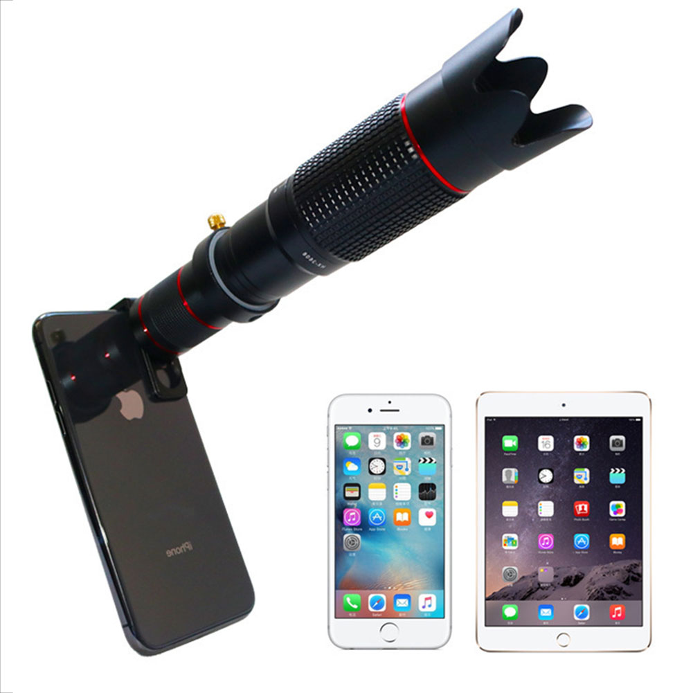 Universal High Definition 36X Telephoto Lens for IOS Android Mobile Phone Travel Photography Telescope Lens black