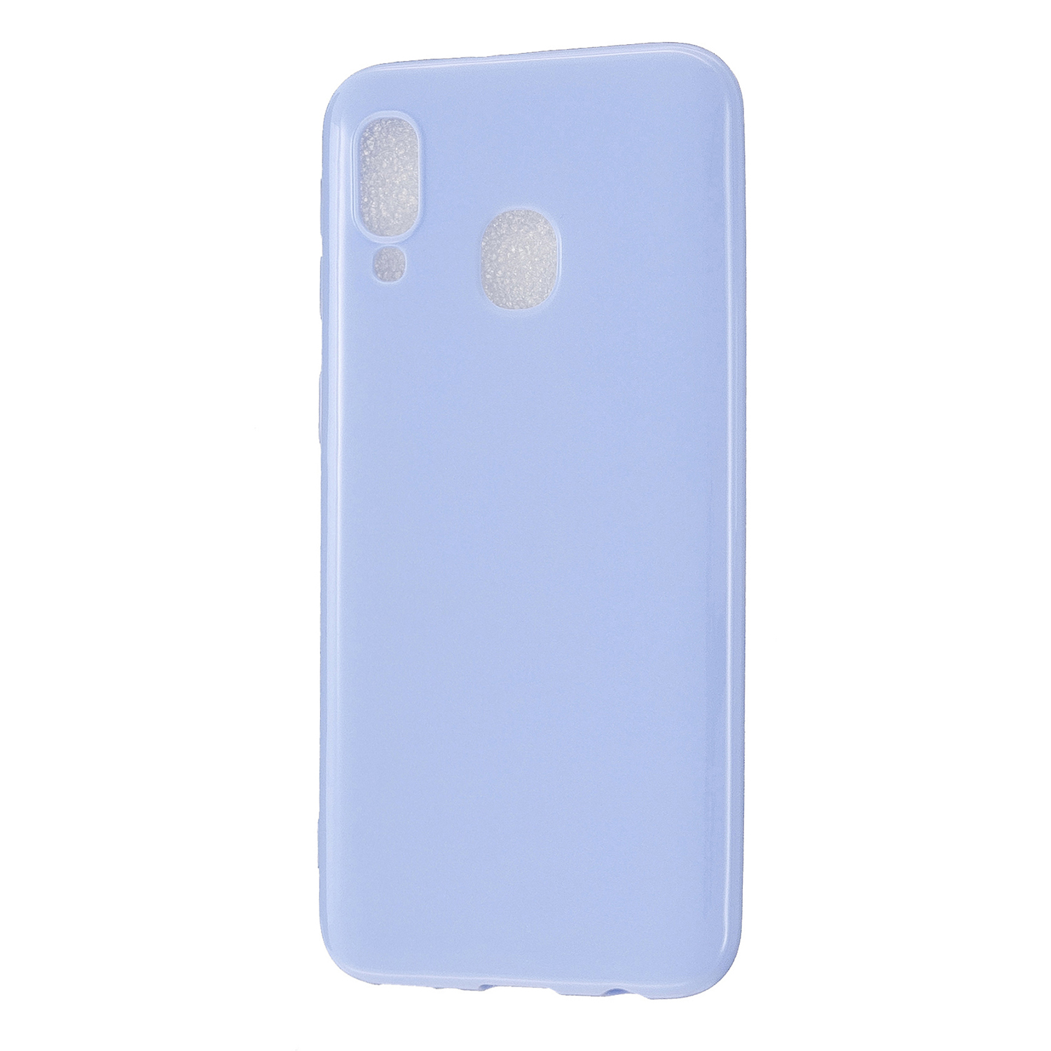 For Samsung A20E/A40/A70 Cellphone Cover Soft TPU Phone Case Simple Profile Scratch Resistant Full Body Protection Shell Taro purple