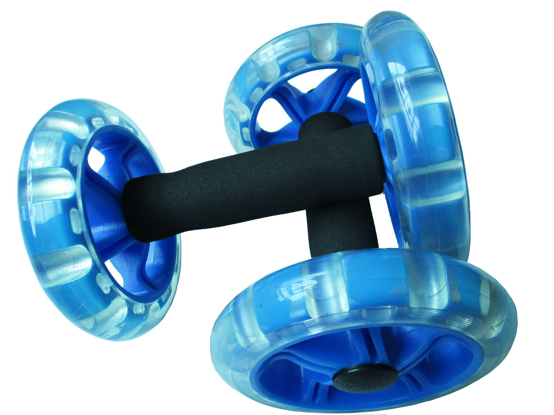 AB Wheel Rollers Four-wheeled Core Abdominal Wheels Workout for Ab Training Gym Home  black blue