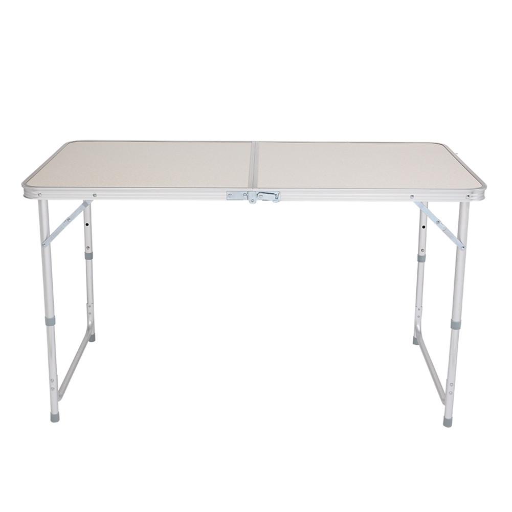 [US Direct] Multipurpose Folding Table Household Supplies Aluminum Alloy Folding Table 120*60*70 white