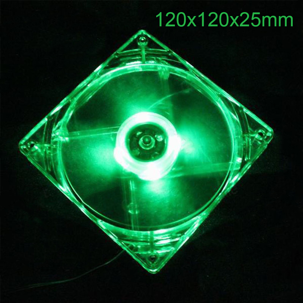 12CM PC Computer Fan 4 LED Light Fan PC CPU Cooling Cooler Fan for Computer Case CPU Cooler Radiator  green