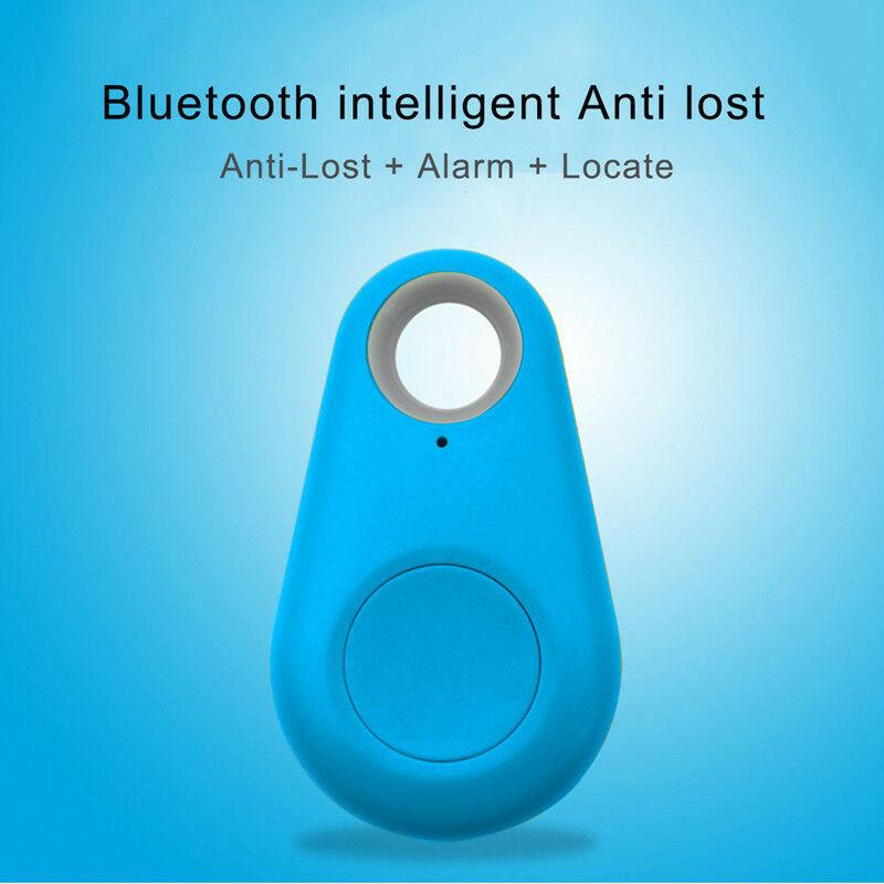 Smart Mini Waterproof Bluetooth GPS Tracker for Pet Dog Cat Keys Wallet Bag Kids blue