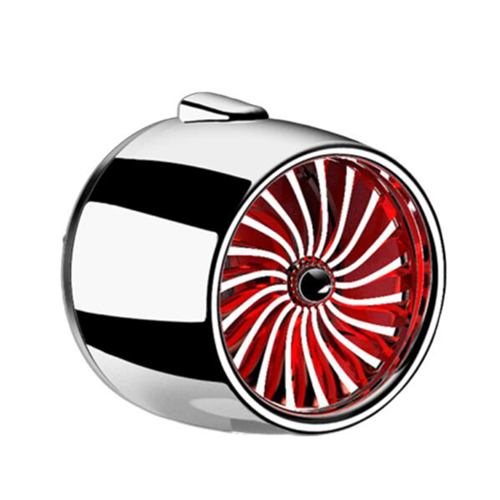 LED Scent Vent Decoration Clip On Alloy Diffuser Car Perfume Freshener Bright silver red