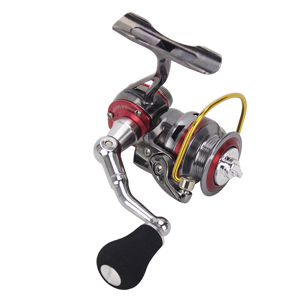 Mini Small Ice Fishing Spining Reel All Metal Mini 3+1BB Zinc Alloy Spinning Reels  red_full metal spinning reel