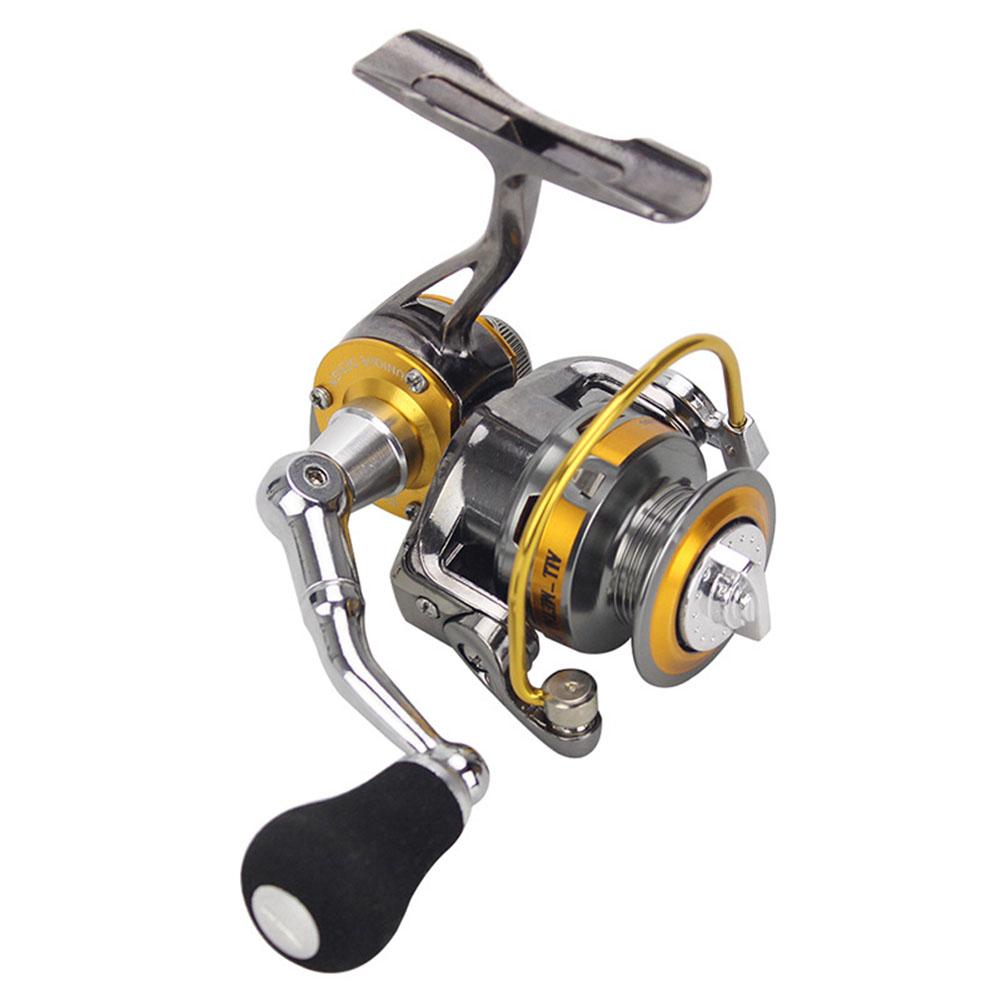 Mini Small Ice Fishing Spining Reel All Metal Mini 3+1BB Zinc Alloy Spinning Reels  Gold_full metal spinning reel