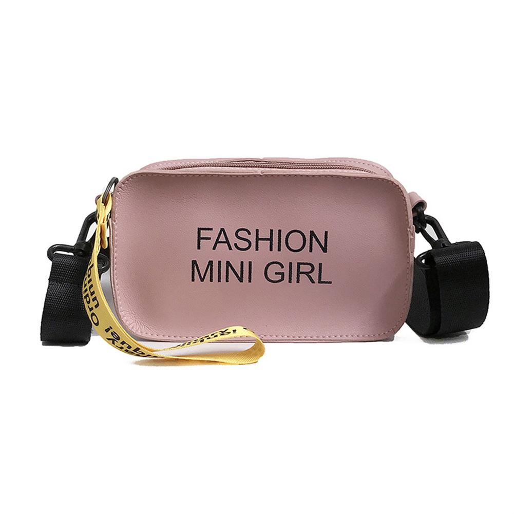 Women Mini PU Single Shoulder Bag Fashionable Letters Handbag Sling Bag
