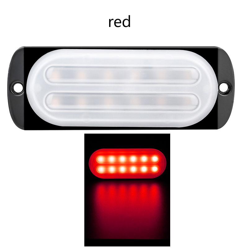 12-24V 12 LED Emergency Strobe Lights Trailers Lights Flashing Warning Truck Side Marker Lamp Red light
