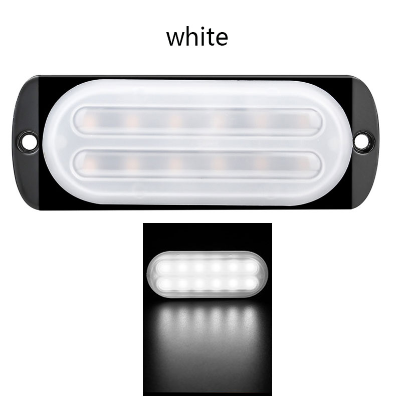 12-24V 12 LED Emergency Strobe Lights Trailers Lights Flashing Warning Truck Side Marker Lamp White light