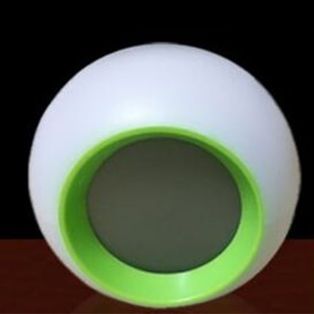 Creative Spherical 7 Colors Changing Light Natural Sound Alarm Clock Green