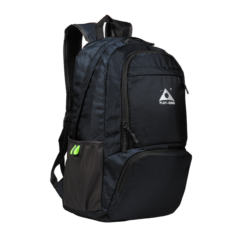 Foldable Waterproof Backpack Outdoor Travel Folding Lightweight Bag Bag Sport Hiking Gym Mochila Camping Trekking black
