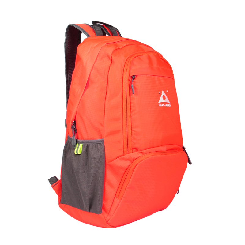 Foldable Waterproof Backpack Outdoor Travel Folding Lightweight Bag Bag Sport Hiking Gym Mochila Camping Trekking Orange