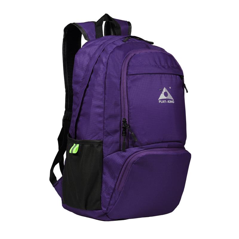 Foldable Waterproof Backpack Outdoor Travel Folding Lightweight Bag Bag Sport Hiking Gym Mochila Camping Trekking purple