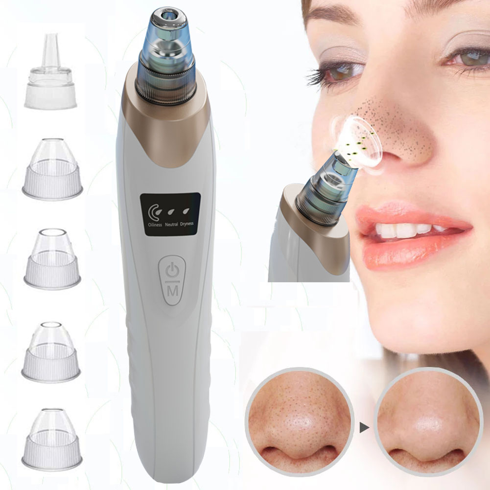 Blackhead Aspirator USB Vacuum Electric Pore Cleansing Instrument white