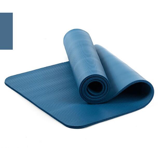 10mm Yoga Mat Workout Elastic Non-slip Fitness Gymnastics Mat Thick Knee Exercise Pad Accupressure Mat blue_183 * 61 * 1.0cm