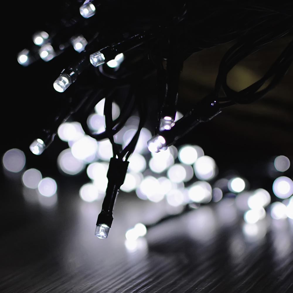 12M/22M 100LEDs/200LEDs Waterproof Solar Powered String Light for Deocration White light_12 meters 100 LED_(ME0003501)