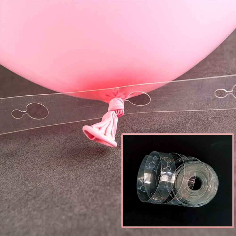 5M Transparent DIY Ballon Decorating Strip Connect Chain for Celebration Birthday Party Wedding Supplies Double hole