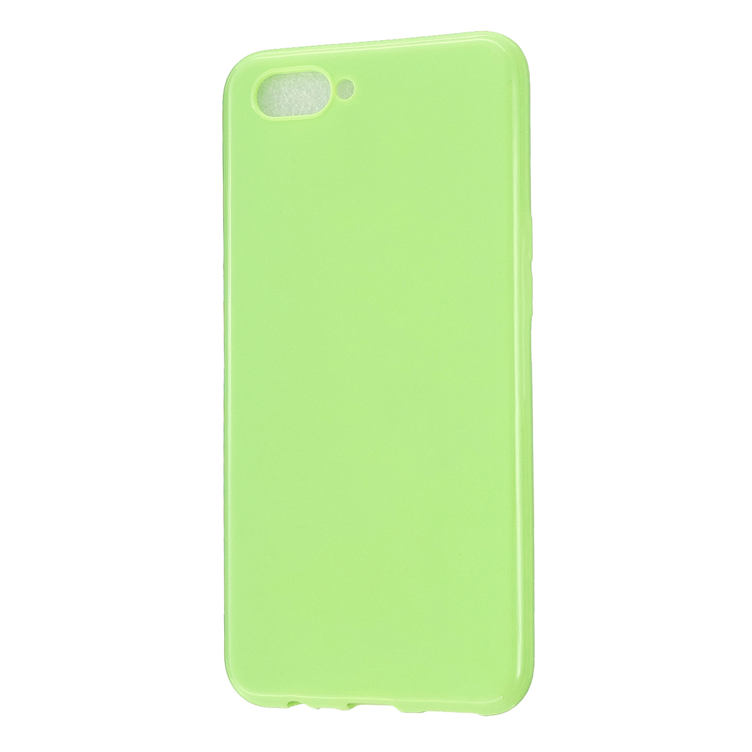 For OPPO A5/A3S/A9 2020 Cellphone Cover Soft Touch Anti-scratch Shockproof TPU Mobile Phone Case  Fluorescent green